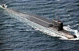 Delta-II class nuclear-powered ballistic missle submarine 2
