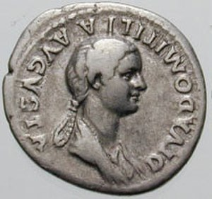 Domitilla the Younger - Image: Denarius Domitilla RIC 0137 crop