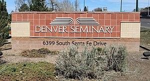 Denver Seminary - The sign at the seminary entrance.