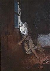 Femme asphyxiée