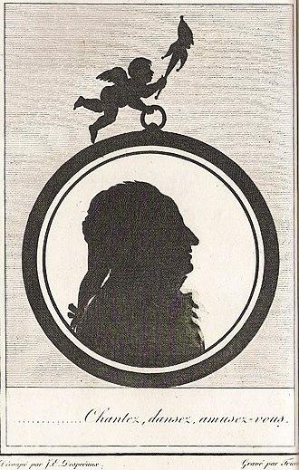 Jean-Étienne Despréaux - Chantez, dansez, amusez-vous... Silhouette of Despréaux (1807)