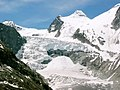Detail of glacier melting down Mont Mine near Evolene 2004, Part of a serie through the years - panoramio.jpg