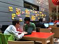 """Developers and """"interested in"""" wall at the Amsterdam Hackathon 2013.jpg"""