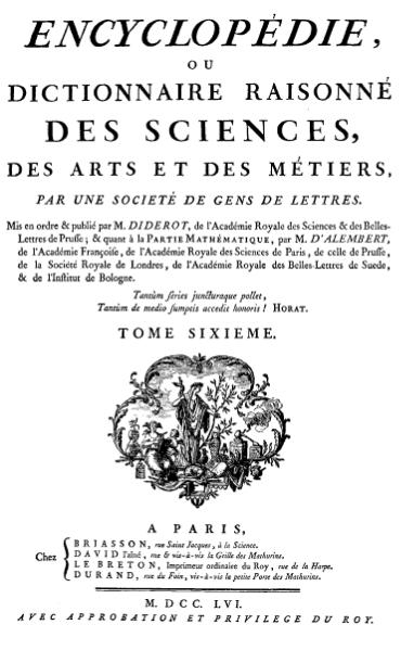 File:Diderot - Encyclopedie 1ere edition tome 6.djvu
