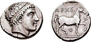 Archelaus I of Macedon - Didrachm of Archelaus I