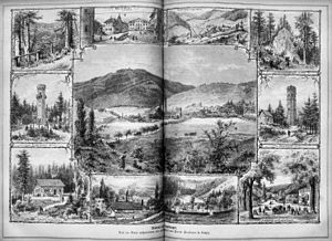 Ilmenau - Sights around Ilmenau in 1873