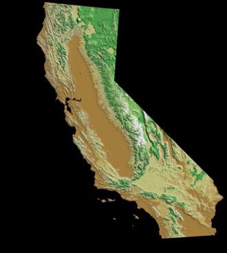 1939 California tropical storm - Map of California