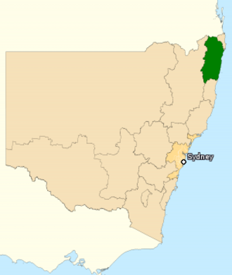 Division of Page - Division of Page in New South Wales, as of the 2016 federal election.