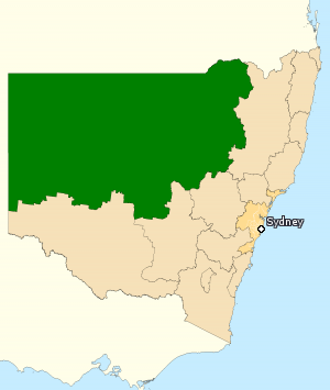 Division of Parkes - Division of Parkes in New South Wales, as of the 2016 federal election.