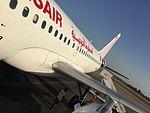 Djerba Tunisair Airbus A319 TS-IMK Août 2016.jpg