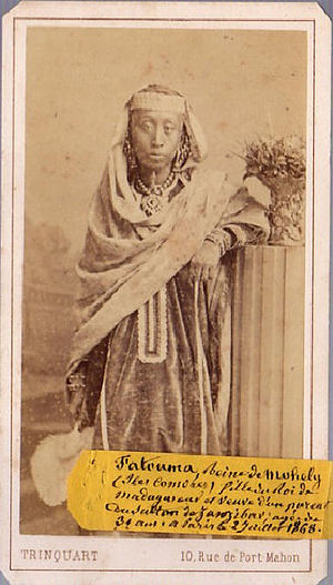 Djoumbé Fatima - Photograph of Djoumbé Fatima taken in Paris in 1868