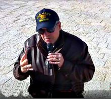 Don Brown speaking at the Israeli 911 Memorial, Jerusalem, Israel on March 21, 2016