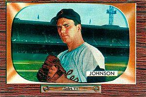 Don Johnson (pitcher) - Image: Don Johnson 1955