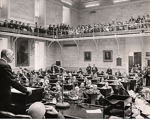 South Carolina General Assembly - Governor Donald Russell addressing the Assembly in 1964