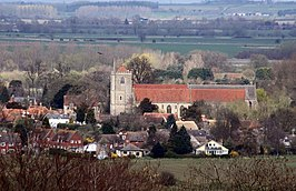 Dorchester Abbey from Castle Hill - geograph.org.uk - 1242174.jpg