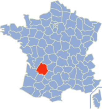 Communes of the Dordogne department - Image: Dordogne Position