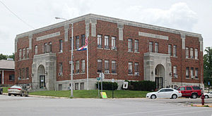 Douglas County, Missouri - Image: Douglas County Court House Ava, MO