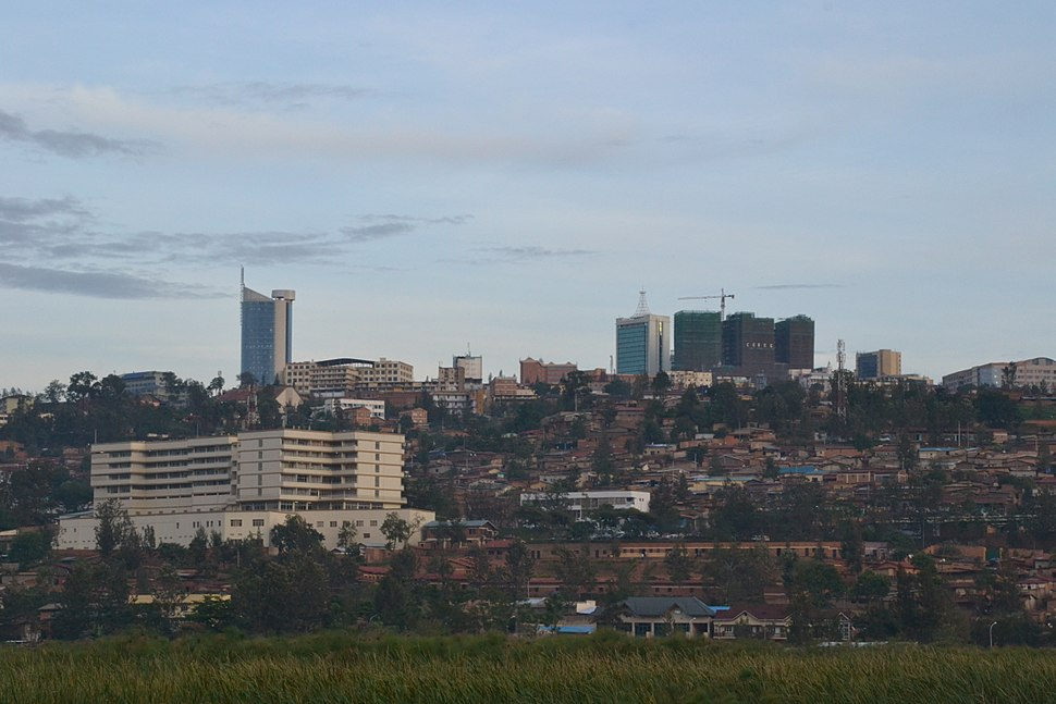 Downtown Kigali and papyrus marsh October 2012