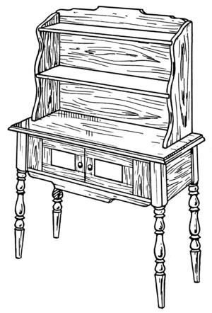 Welsh dresser - A plain Welsh dresser