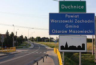 Duchnice Village in Masovian, Poland