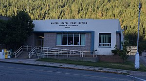 Dunsmuir, California - Post office in Dunsmuir