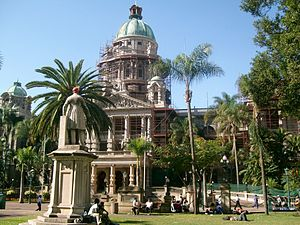 Harry Escombe - Durban City Hall, 263 West Street, Durban. 1883. Has Merorial Gardens too. 02