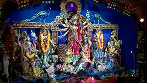 Jaigaon - Durga Idol in Jaigaon Puja Pandal