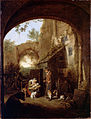 Dusart, Cornelis - Figures in the Courtyard of an Old Building - Google Art Project.jpg