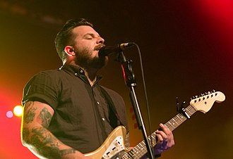 Thrice - Dustin Kensrue of Thrice at PlayStation Theater, NYC 2016