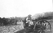 Dutch artillery in the fight against the Balinese 1906