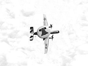 VAW-115 - VAW-115 E-2B in flight in 1974.