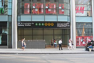 Lexington Avenue/59th Street (New York City Subway) - Street stair