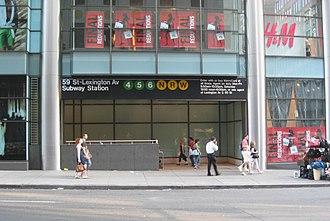 Lexington Avenue/59th Street (New York City Subway) - Street stair