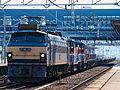 EF66 30 + DE10 1674 + DE10 1574 Saijo Station 20170619 (1).jpg