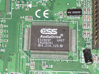 Yamaha YMF262 - The ES1869F is one of several ESS-developed sound chips which incorporate their unique ESFM function.
