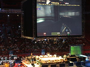 2006 in eSports - Image: ESWC 2006 Final Paris Bercy arene 3