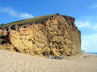 Broadchurch - Harbour Cliff and Beach in West Bay, Dorset, provided the scene for Danny Latimer's murder in the series.