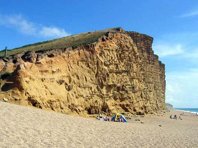 East Cliff at West Bay - geograph.org.uk - 394704