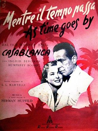 As Time Goes By (song) - Image: Edizioni Musicali Radio Record Ricordi, copertina dello spartito musicale, 1949 san dl SAN IMG 00001816