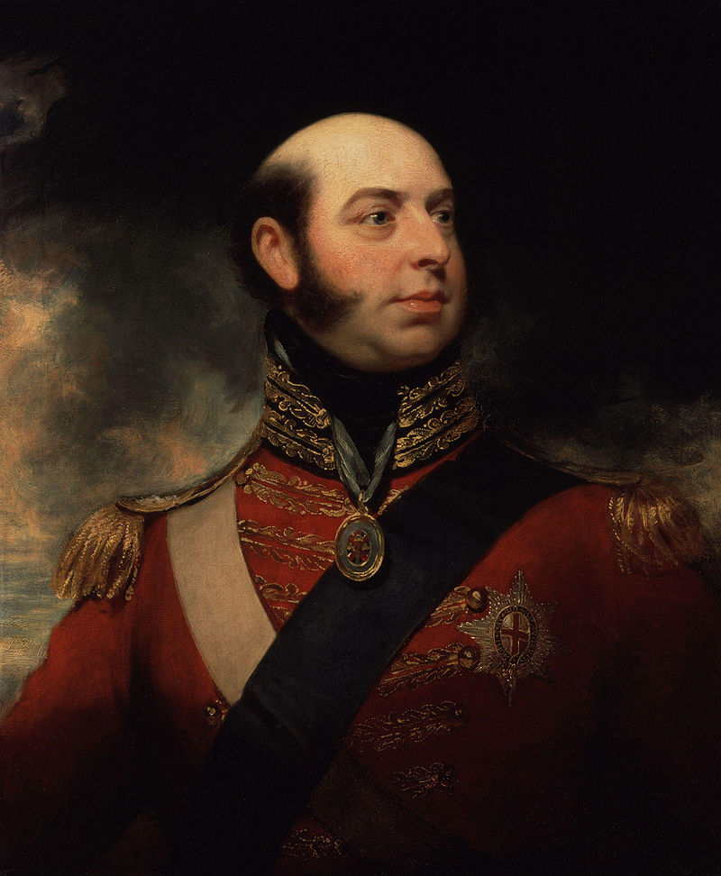 Edward, Duke of Kent and Strathearn by Sir William Beechey. From the collection of the National Portrait Gallery, London.