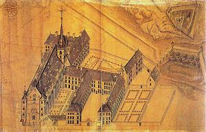 Athénée de Luxembourg - Image: Eglise college jesuites luxbg plan 1686