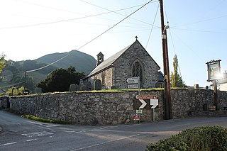 Llangynog village in the county of Powys, Wales