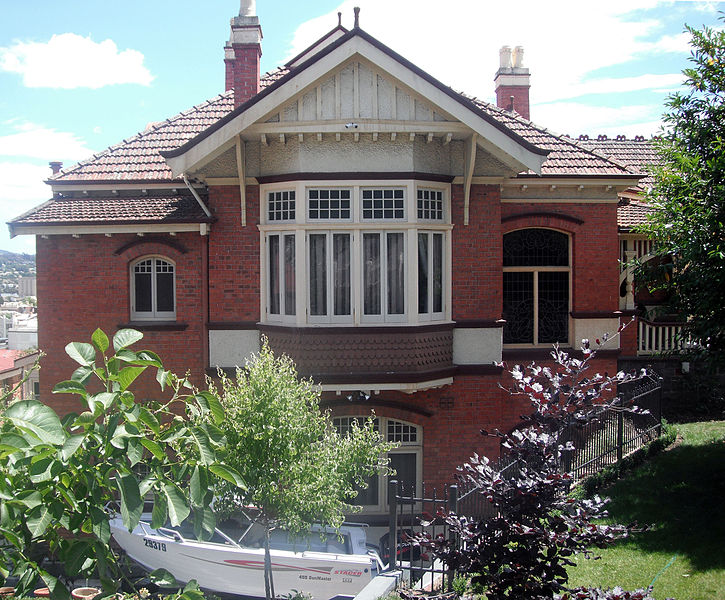 Egremont 20 Welman Street, Launceston TAS. designed for the Harrap family (Ada, May, and brother George) by J Martyn Haenke; now operating as Egremont Bed And Breakfast; THR #4696