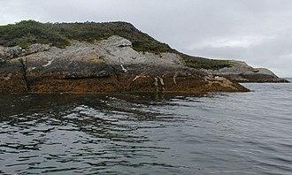 Isle Martin - Ceatha Chaluim Ruaidh on the north west tip of Isle Martin.
