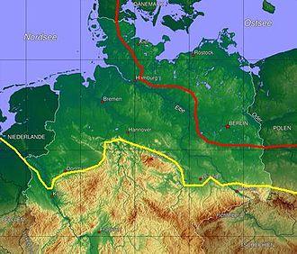 Weichselian glaciation - Image: Eisrandlagen Norddeutschland