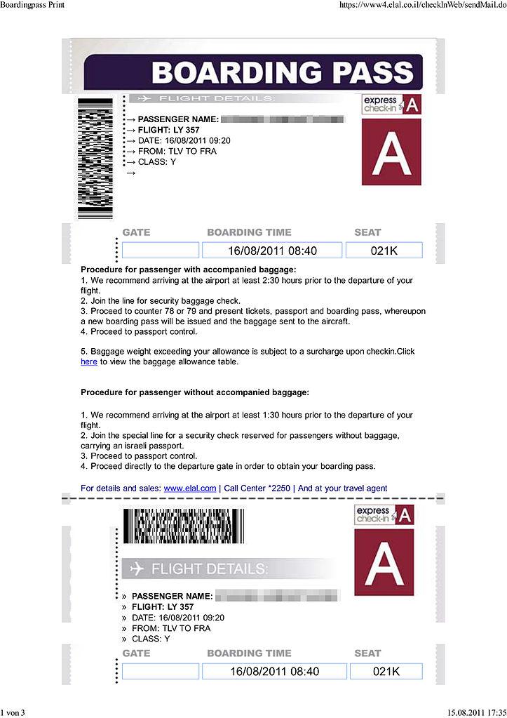 File El Al Boarding Pass From Web Checkin Ly 357 Tel Aviv