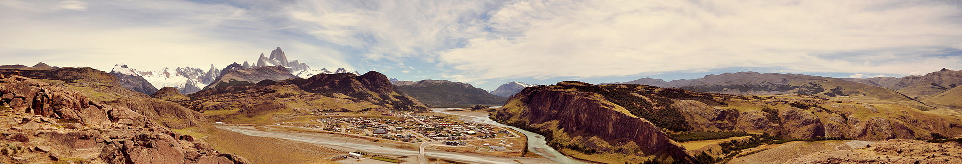 Panoramic view of El Chaltén