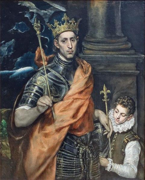 Luis IX el Santo, por El Greco.