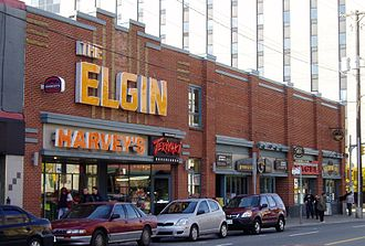 Elgin Theatre (Ottawa) - The former Elgin Theatre building, today home to a number of restaurants.