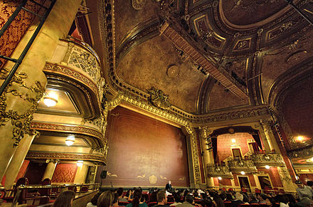 Elgin Theatre, Toronto, the Orpheum cinema of the film. Elgin Theatre interior.jpg